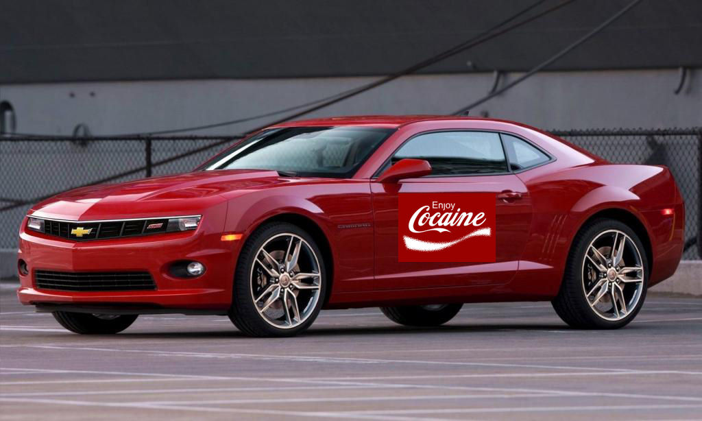 2014 camaro SS enjoy cocaine camaro company car